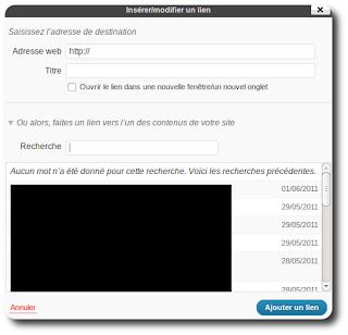 Faire des liens internes avec Wordpress