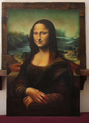 Mona Lisa (Leonardo) - oil painting reproduction by Marcello Barenghi