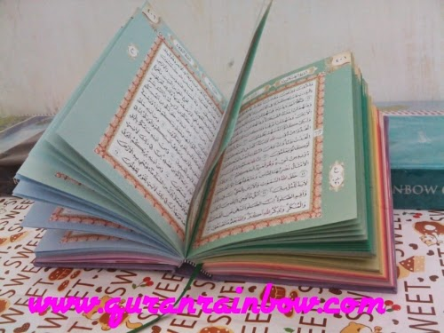 rainbow quran, color quran, colored quran, rainbow quran for sale