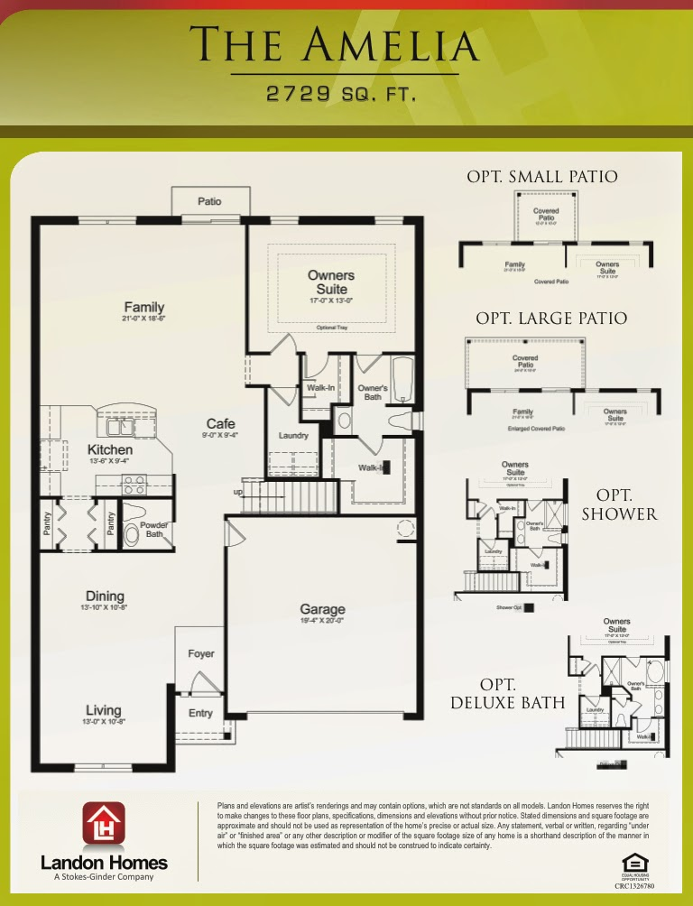 Landon homes featuring the amelia floor plan this home for Landon homes floor plans