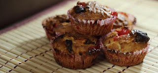 How to make chocolate and jam muffins