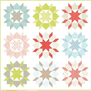 Swoon pattern for Old New 30s quilt