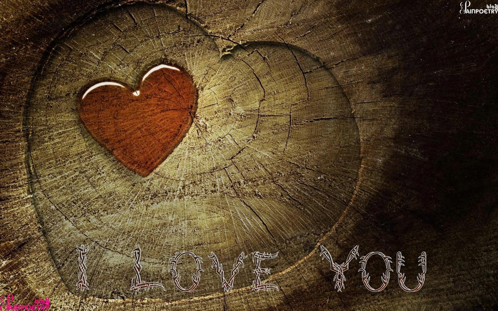 Love-Heart-On-Wood-Image-HD