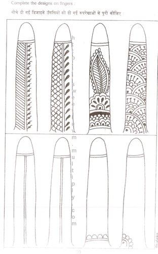 Gambar Henna Simple Di Jari Tangan