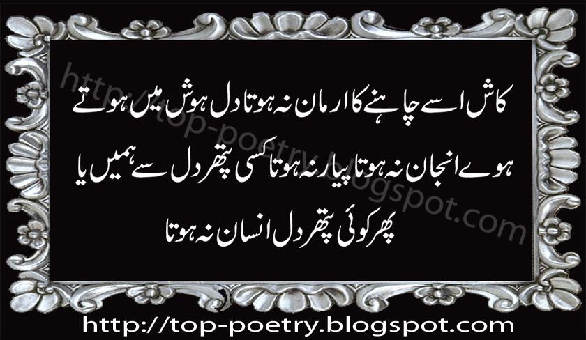 Top Mobile Urdu And English Sms: Sad Urdu Poetry