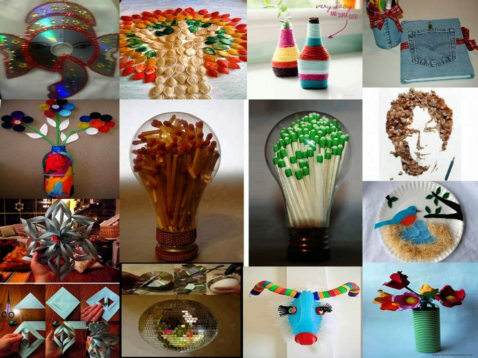 Home decor 15 amazing waste material craft ideas for Home decoration from waste