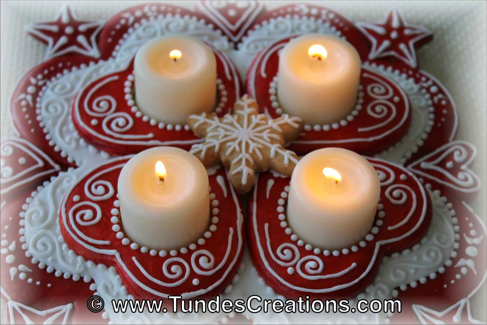 Advent wreath - Christmas centerpiece