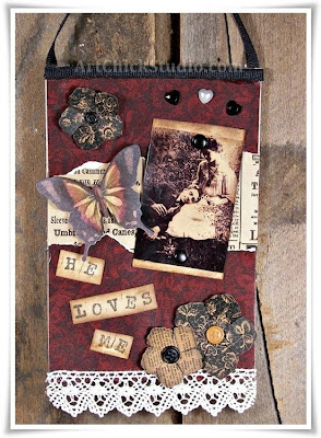 He Loves Me Altered Art