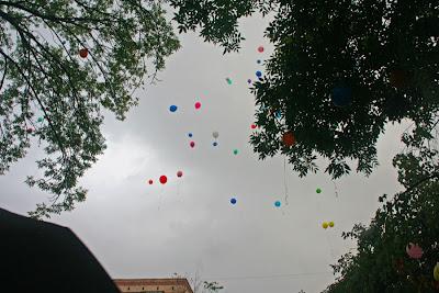 воздушныфе шары в небе