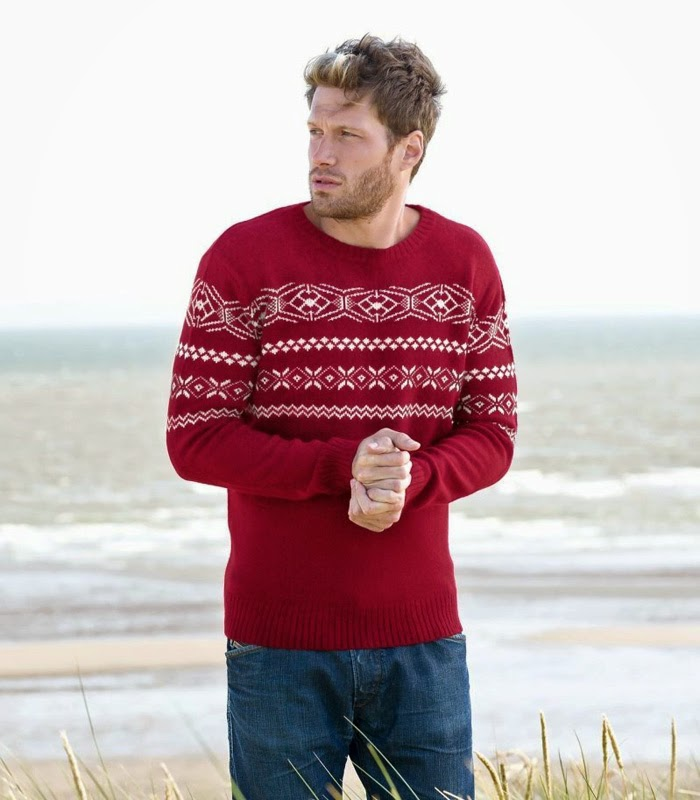 Woolovers Unisex Fair Isle Crew Neck Jumper