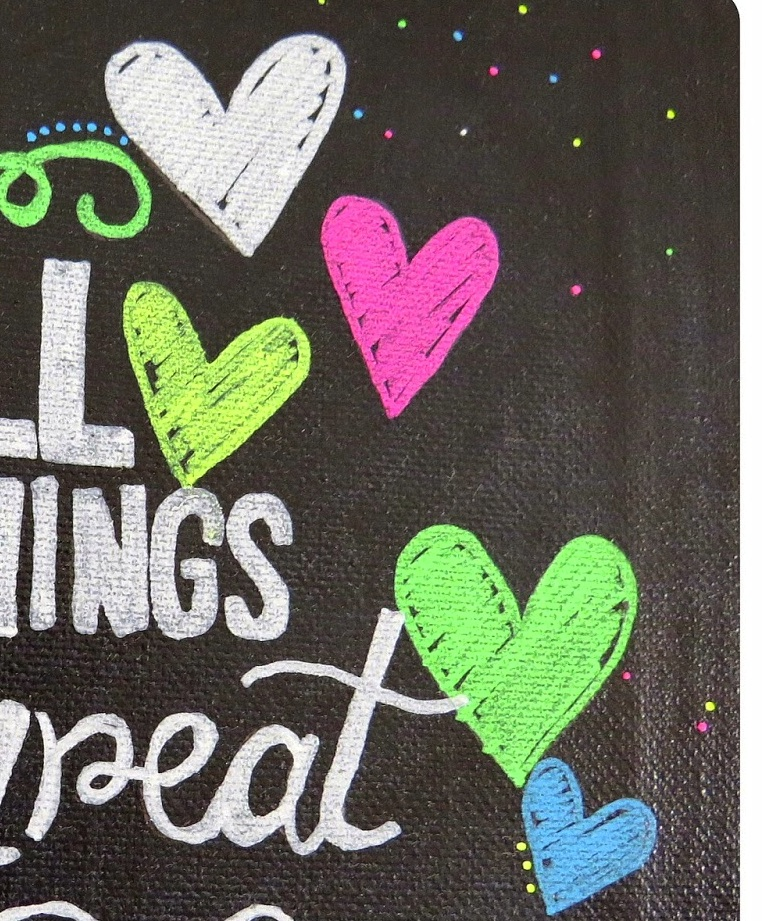 SRM Stickers Blog - Small Things with Great Love by Shannon - #chalkboard #markers #white #blackboard #fluorescent #canvas #DIY