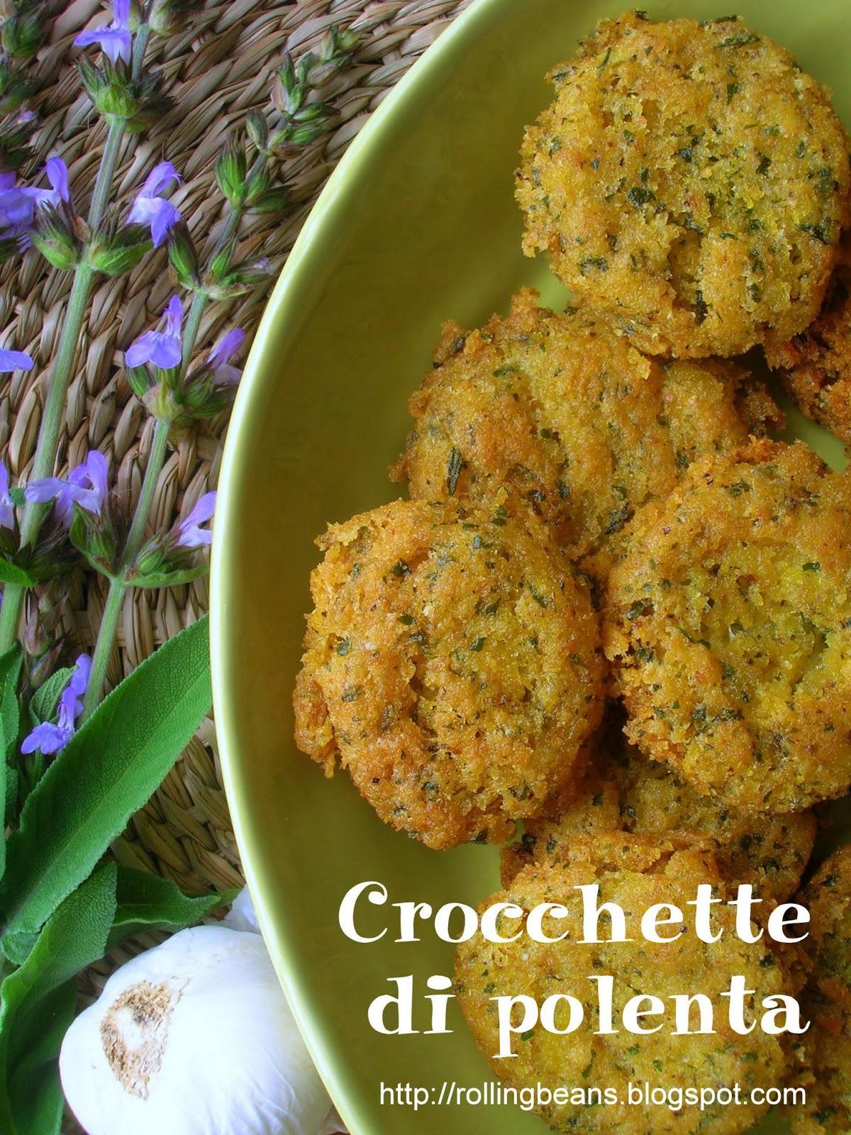 crocchette con avanzi di polenta