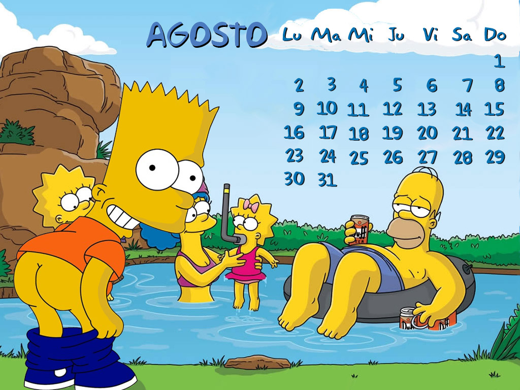 Agosto calendario de los Simpsons