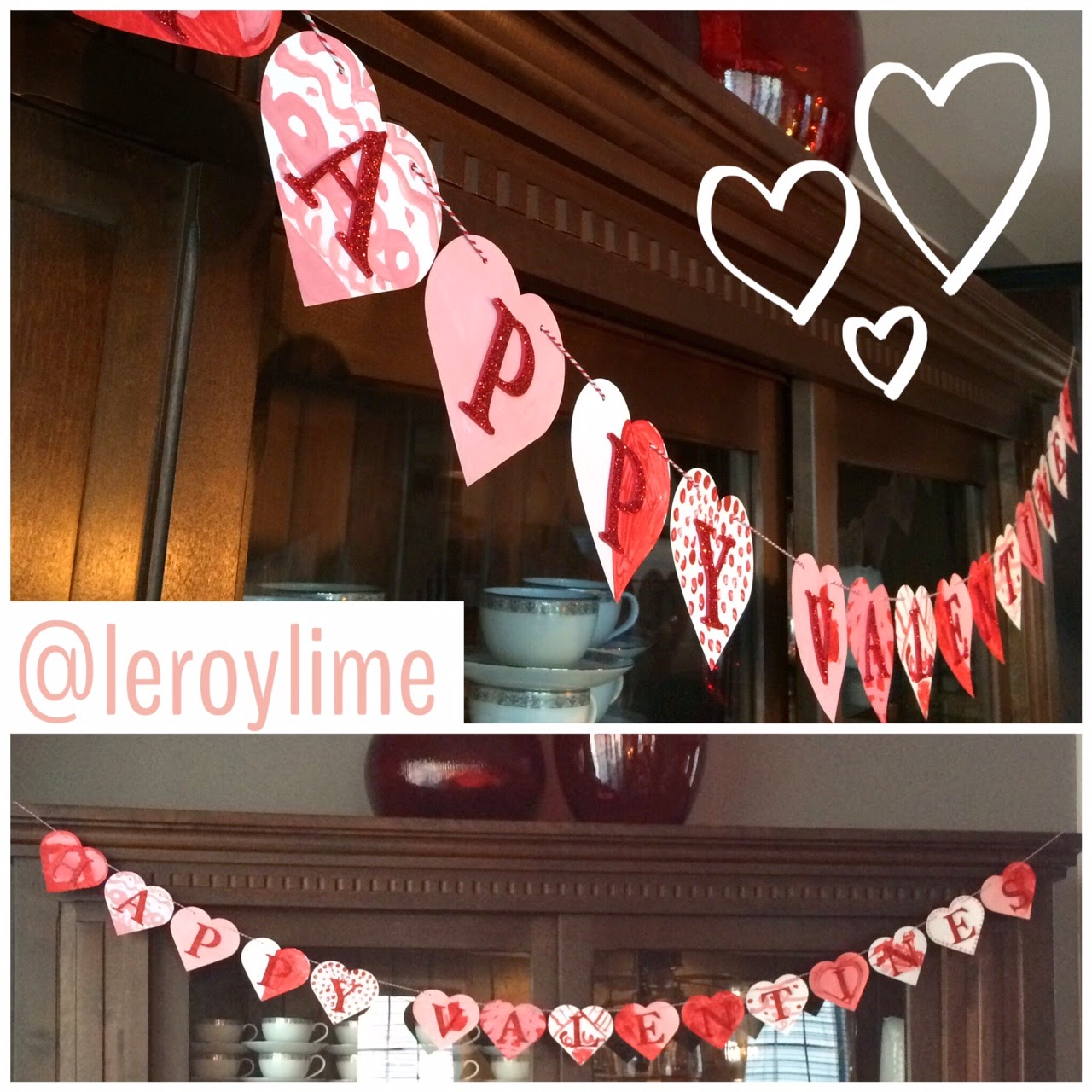 Valentine Kid Craft Heart Banner