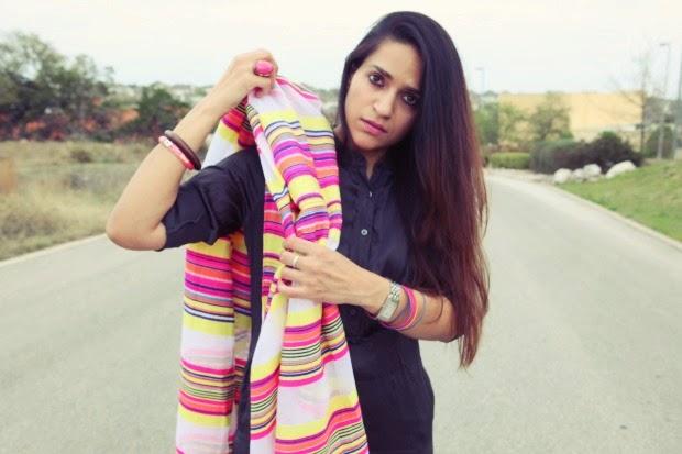 Banana Republic Shirt Dress, UO Leggings, GAP Scarf, Tanvii.com