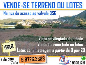 VENDE-SE TERRENO BSG (88) 9 9726.3388