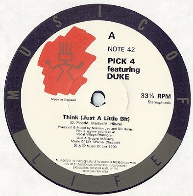 Pick-4 / Duke & DJ Leader One ‎– Think (Just A Little Bit) (1990, VLS, 192)