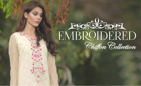 3 PC Embroidered Chiffon Collection