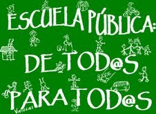 """Tod@s con la camiseta de """"Escuela pública para tod@s"""""""
