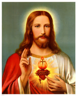 bright glow of Sacred heart of Jesus with cross and crown of thorns,cross free hd religious pictures download