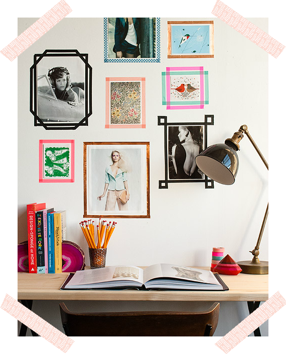 FAKE WASHI TAPE FRAMES / MARCOS FALSOS HECHOS CON WASHI TAPE