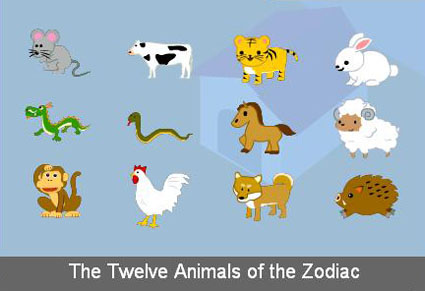 Find the Twelve Animals of the Zodiac