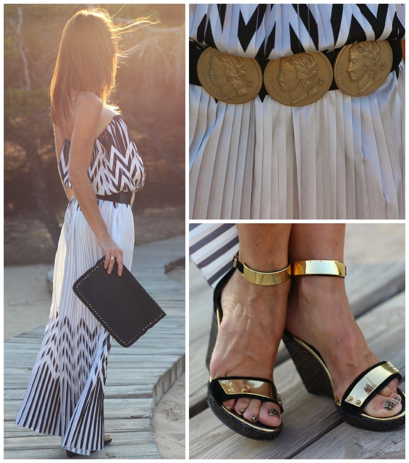 Sahoco Dress - Black and White - vestidos largos - gafas gucci