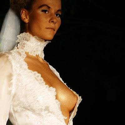 Rhianna side boob wedding