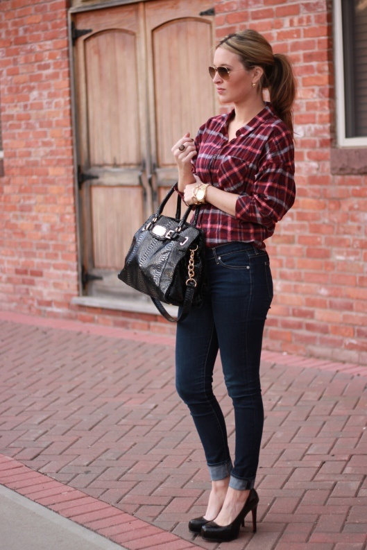 Sarah 39 s style flannel for fall for Flannel shirt and jeans