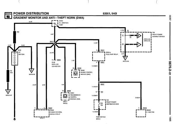 1995 bmw 5 series wiring diagrams   bmw 740il 1995 e38