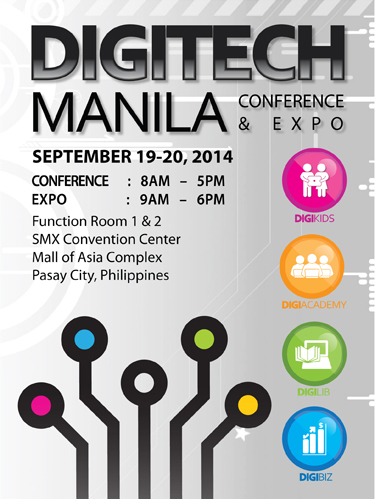 DigiTech Manila Conference and Expo Set on September 19 and 20 at SMX Convention Center