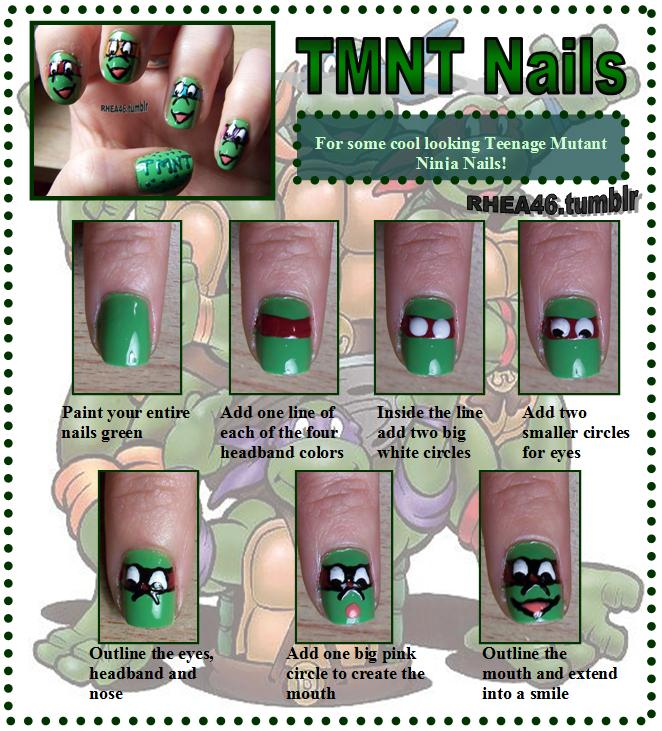Beauty out of boredom: Teenage Mutant Ninja Turtles Nails