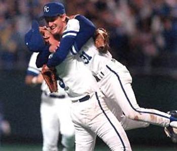 BRET SABERHAGEN 1985 World Series Game 7 Royals 11 Cardinals 0