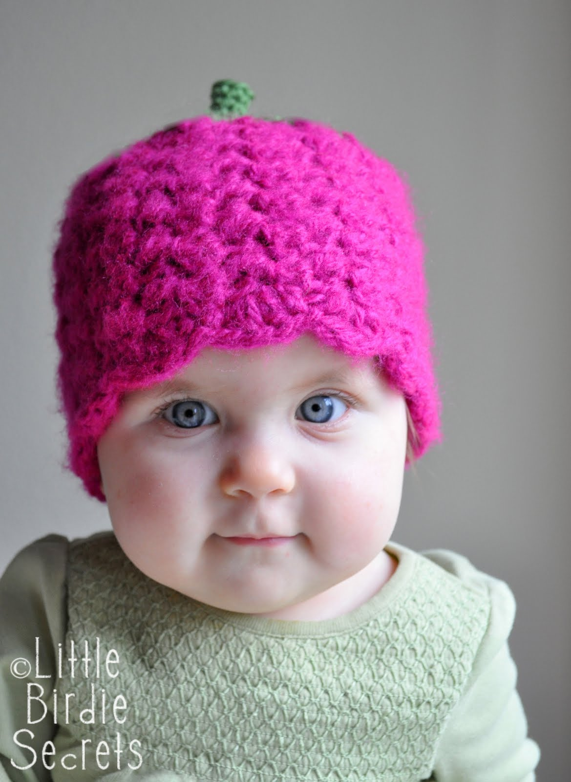 Crochet Beanie Hat Pattern For Babies : raspberry or strawberry free crochet pattern {and a ...