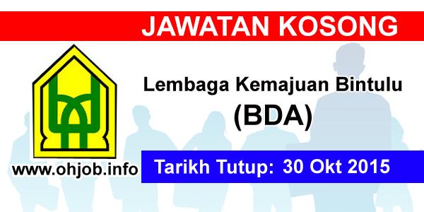 Jawatan Kerja Kosong Lembaga Kemajuan Bintulu (BDA) logo www.ohjob.info oktober 2015