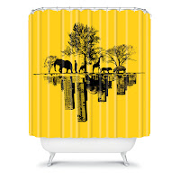 Budi Kwan  Duality Shower Curtain