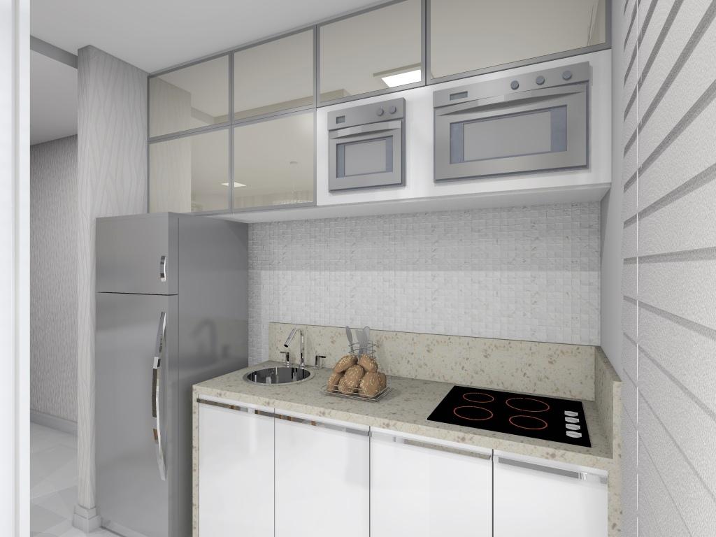 Projeto de interiores de um apartamento pequeno Cozinha. #5D5043 1024 768