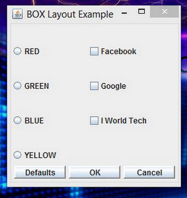 boxlayout Manager in JAVA