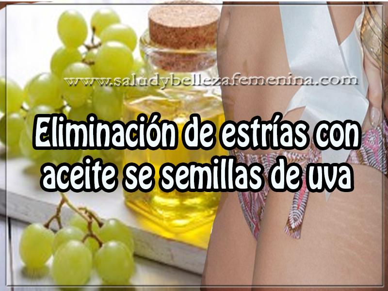 Belleza , eliminación de estrías con aceite se semillas de uva