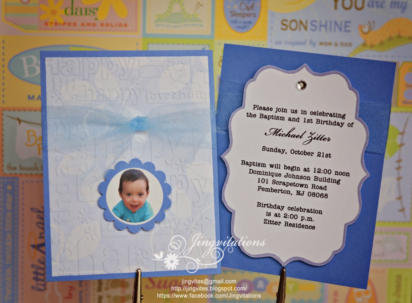 Jingvitations baptism and first birthday invitations baptism invitations first birthday invitations stopboris Gallery