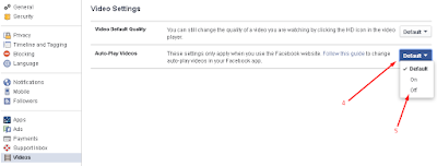 cara mematikan pemutar video otomatis di facebook