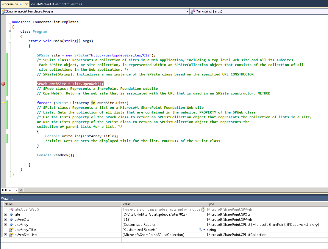 Enumerate All List In A Sharepoint 2010 Site Using C Jsquared