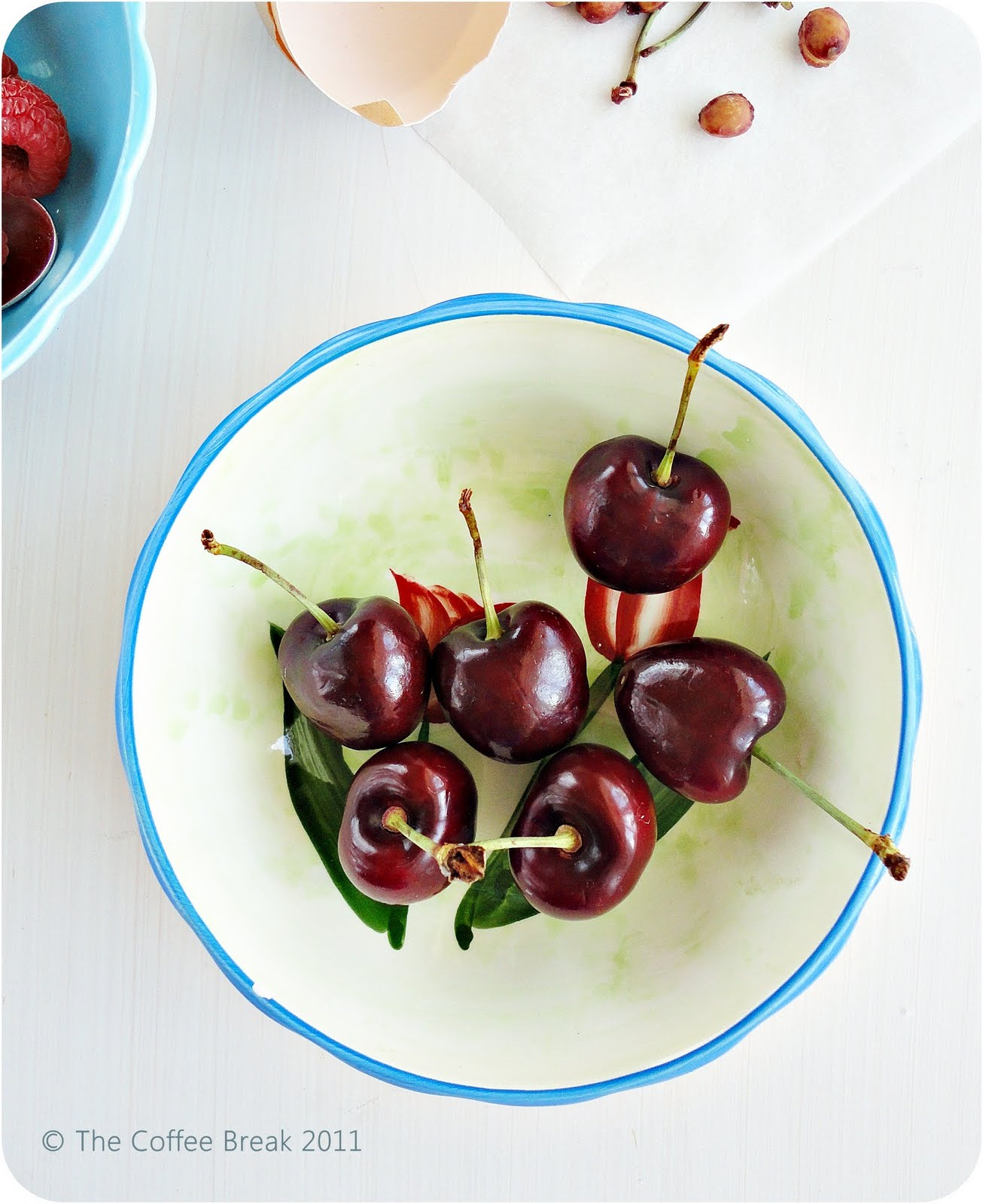 Baked Cardamom Custard with Cherries and Raspberries - The ...