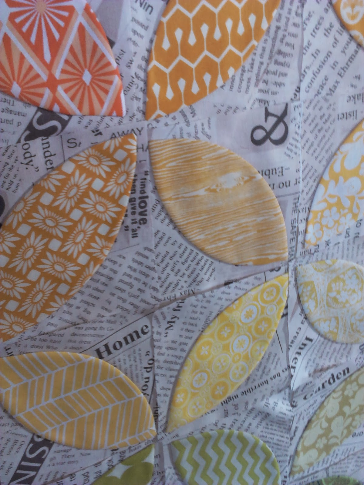 Crazy Old Ladies Quilts: Orange You Glad- a tutorial : orange peel quilt - Adamdwight.com
