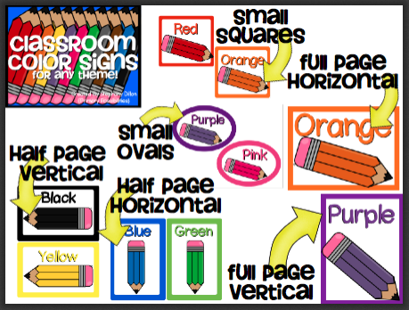 http://www.teacherspayteachers.com/Product/Classroom-Color-Signs-for-any-Theme-769153