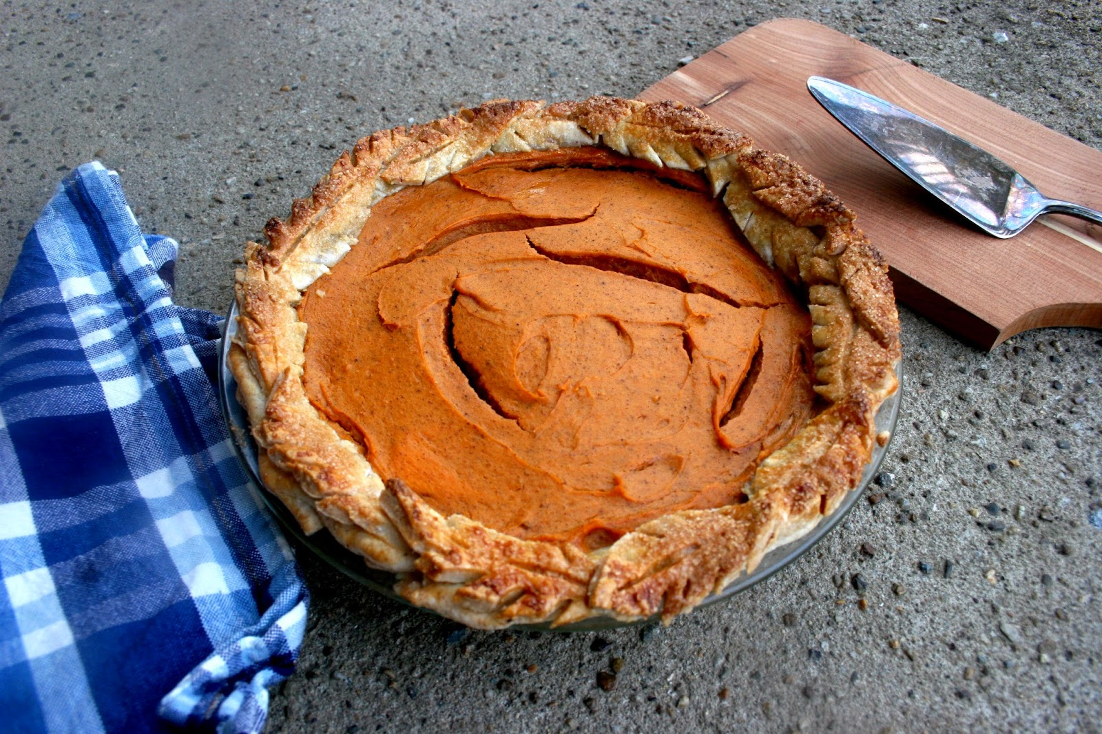 Smoke Signals Baking's Sweet Potato Pie with Cornmeal Crust