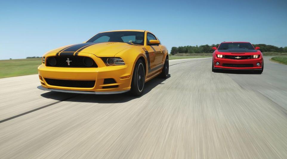 Mustang Vs. Camaro   Fox Body Mustangs