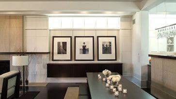 art filling space below basement windows