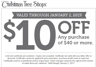 Christmas Tree Shop Coupon In Store
