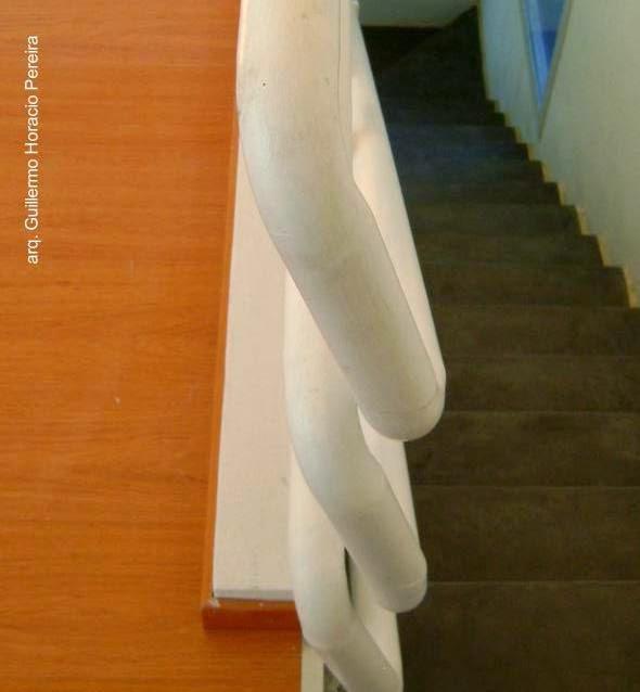 Baranda de escalera interior